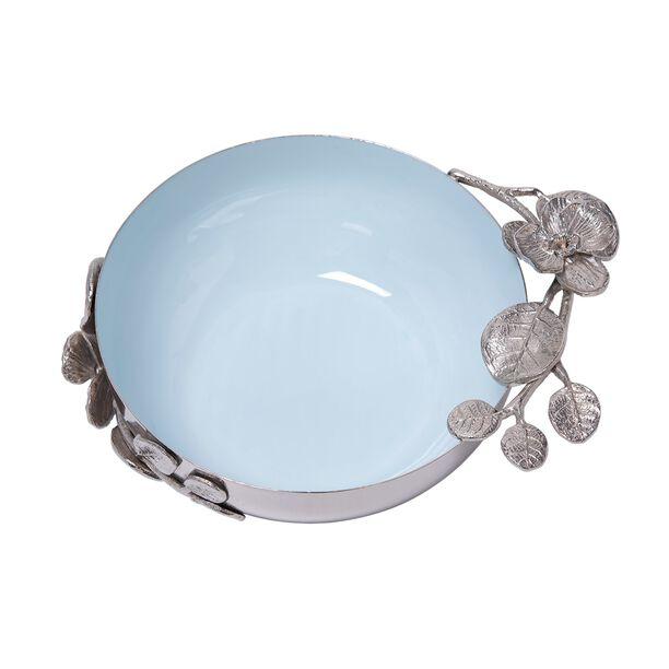 La Mesa Serving Bowl Blue Silver Design image number 1