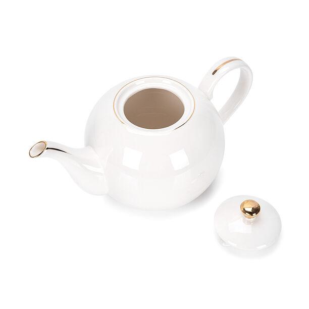 اببريق شاي انجليزي أبيض و ذهبي image number 2