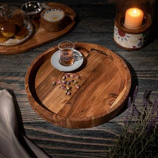 Tray Wood Arabesque Round