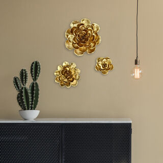 Wall Decoration Flower Gold
