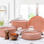 Alberto Granit 7Pcs Cookware Pinky image number 0
