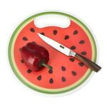 Round Plastic Printed Cutting Board Strawberry Design image number 1