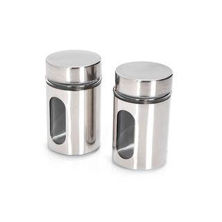 Alberto 2 Pieces Metal Salt And Pepper Set