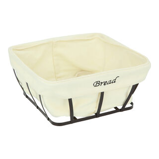 Alberto Metal Square Bread Basket Coffee Color