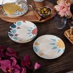 Arabesque 4 Pcs Set Dessert Plates New Bone image number 7