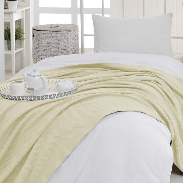 Natural Cotton Summer Bedspread Cream image number 0