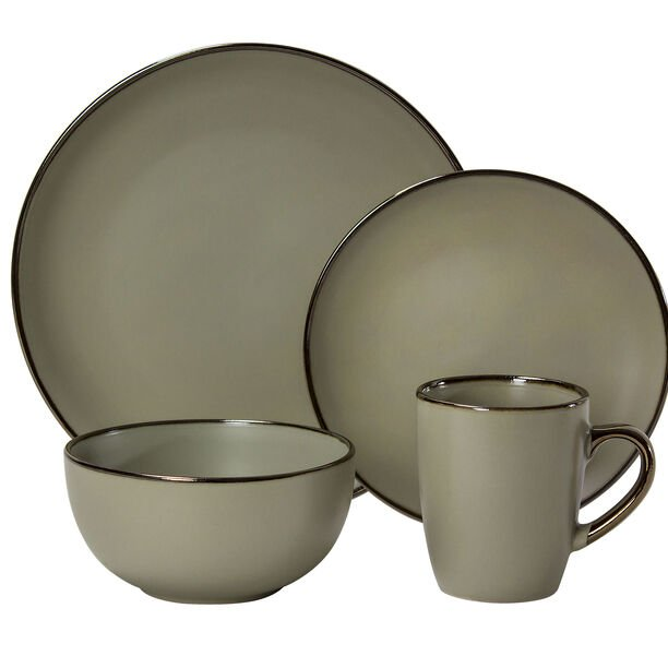 16 Pcs Dinner Set In Compact Box Beige image number 0