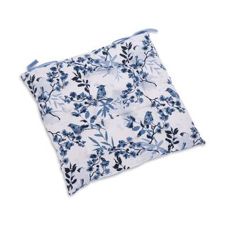Cottage Kitchen Chair Pad L- 40 * W- 40 Cm - Spring Design - Blue Color