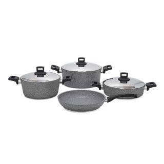 Alberto 7Pcs Granite Cookware With Lid & Soft Handles Granistone