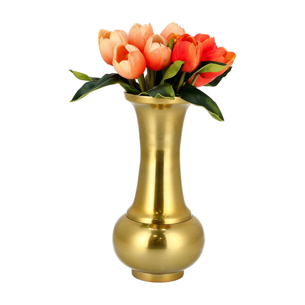 Aluminium Vase Shiny Brass Finish image number 2
