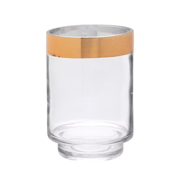 Vase Clear,With Gold Rim Medium image number 0