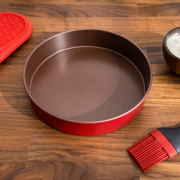 Betty Crocker Non Stick Round Pan Red image number 1