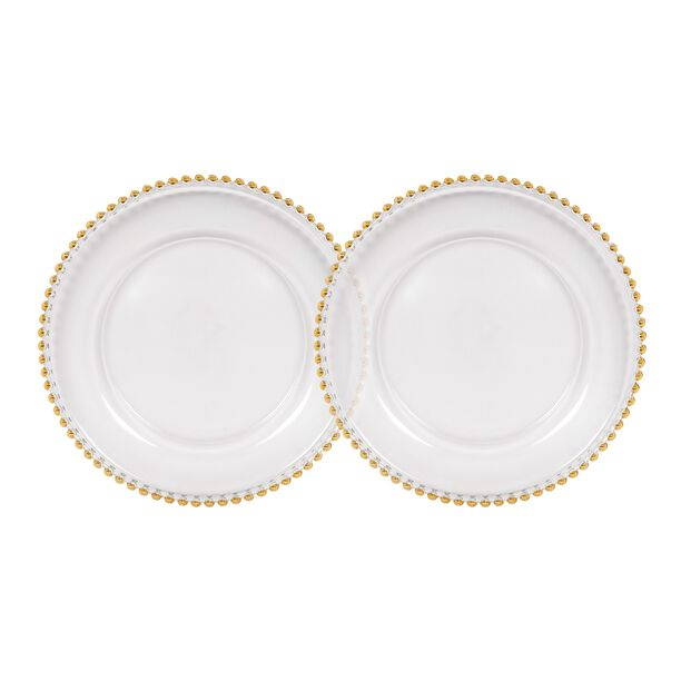 طبق زجاج لأسفل صحن المائدة قطعتين من لاميسا image number 0
