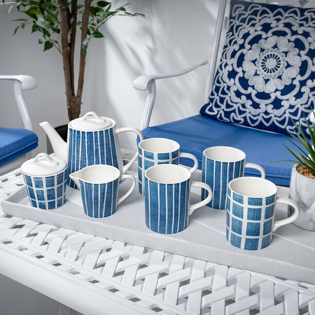 English Tea Set 7Pc Navy Carnival image number 0