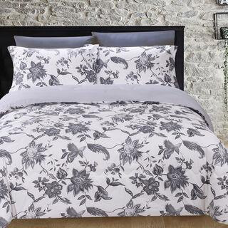 Cottage 6 Pieces Microfiber Comforter Set Emboos Emblisshed Pillow Shams King Size250×235 Cm