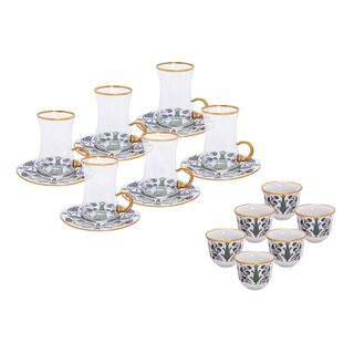 18Pcs Arabic Tea Set Servi Design
