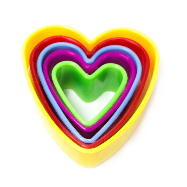 قواطع كوكيز بلاستيكية طقم 5 قطع متعددة الأشكال image number 0
