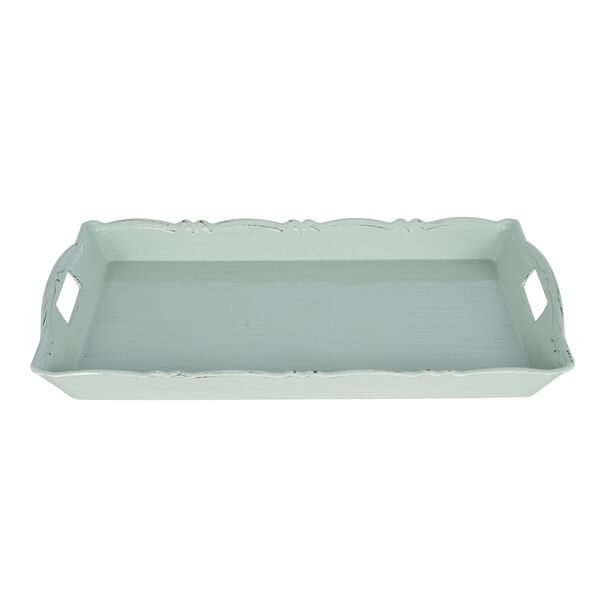 Serving Tray Antique Finish 52*34Cm Green Color image number 1