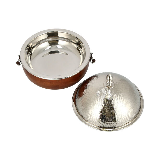 Small Food Warmer nickel Plated image number 2