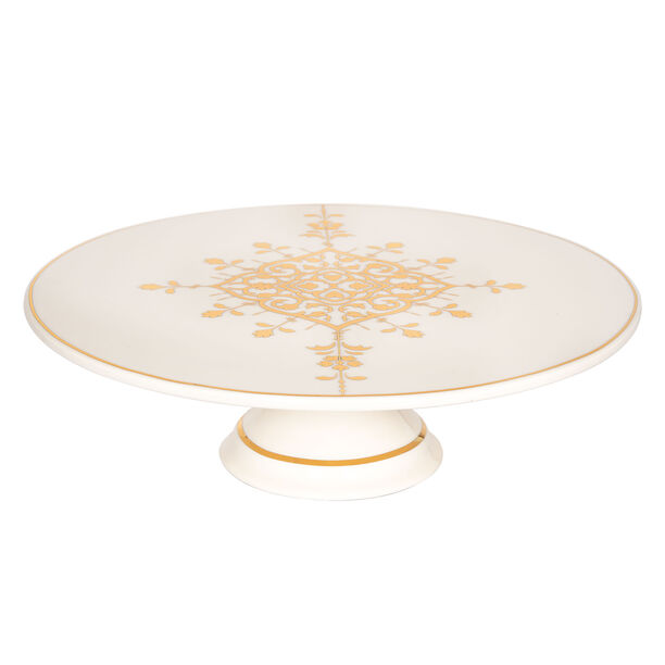 Footed Cake Stand Gold Frill image number 0