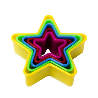 Plastic Cookie Cutters 5 Pieces Assorted Shapes