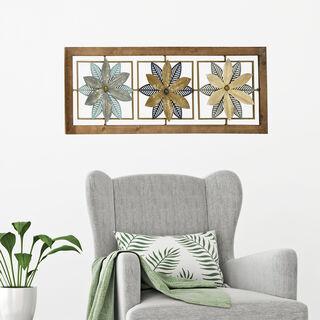 ديكور حائط معدني تصميم زهرة