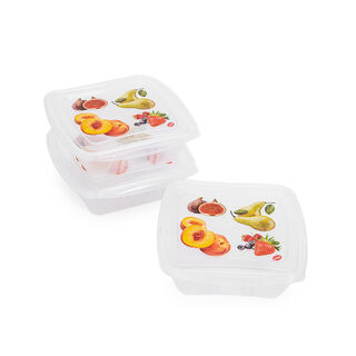 3 Pieces Square Food Containers Snips