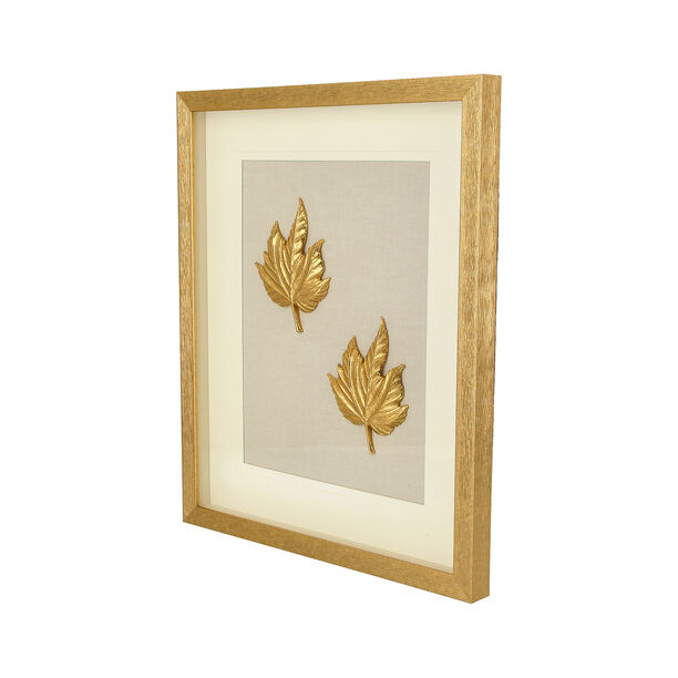 Shadow Box With Frame Golden Leaf Golden image number 1