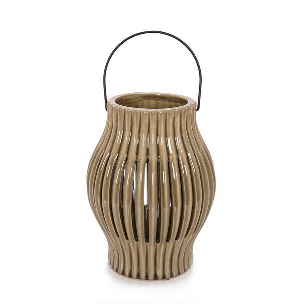 Ceramic Candle Holder Olive Green image number 0