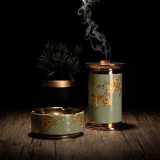 Oud Burner Harmony Gold Flower