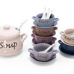 21 Pcs Porcelain Soup Tureen image number 1