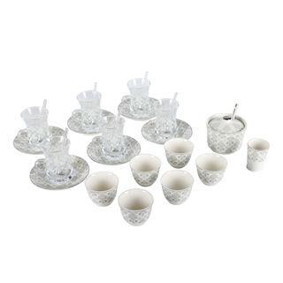 Zukhroof 28 Pieces Porcelain Tea And Coffee Set Danteel Gray
