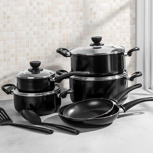 Alberto Non Stick Cookware Set 12 Pieces Black image number 3