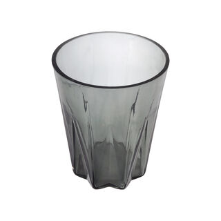 Glass Waste Bin Grey Casa Blanca