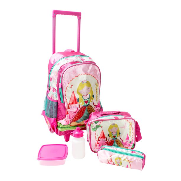 """18"""" Trolley Bag + Lunch Bag + Pencil Bag + Lunch Box & Water Bottle image number 0"""