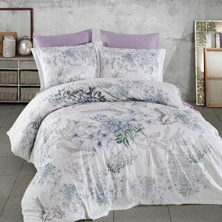 Cottage 3 Pieces Cotton Duvet Cover Purple King 260×240 Cm