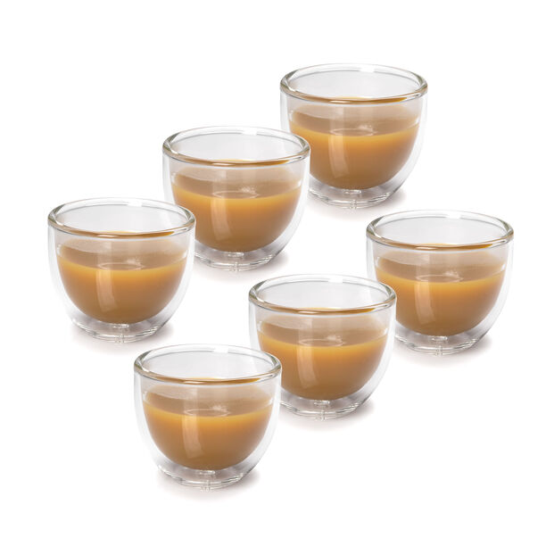 6 Pcs Double Wall Cawa Borosilicate Glass Cup Plain No Design image number 3