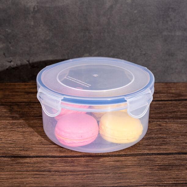 حافظة طعام بلاستيك دائرية سعة 0.8 لتر من البرتو image number 2
