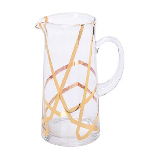 La Mesa 1 Piece Glass Jug Arabisque Gold