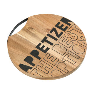 Alberto Acacia Wood Round Cutting Board