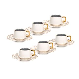 طقم فناجين قهوة تركية بورسلان 12 قطعة