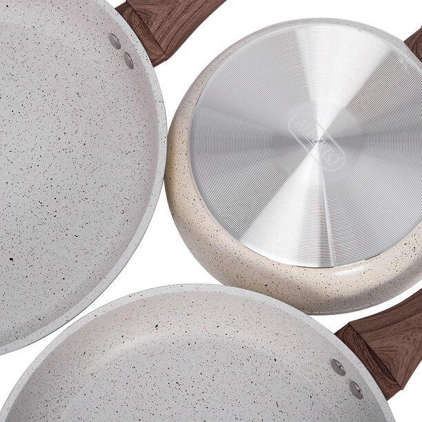 Alberto Forged Aluminum Frypan Set 3 Pieces Cream image number 3