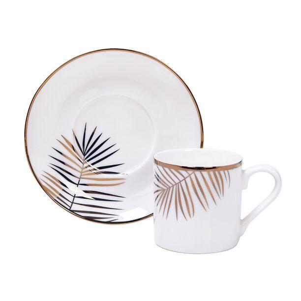 La Mesa Gold Leaf Coffee Cup Set 12 Pieces  image number 1