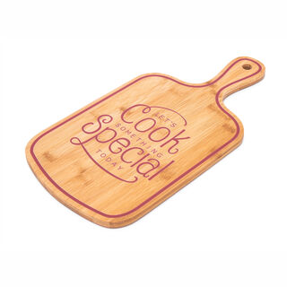 Alberto Bamboo Cutting Board With Handle Pink