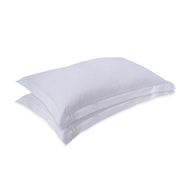 2Pcs Pillow Cover White image number 0