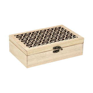 Tea Box With Key 6Sections