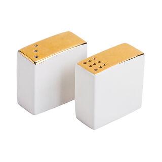 طقم ملاحات قطعتين أبيض/ذهبي من لاميسا