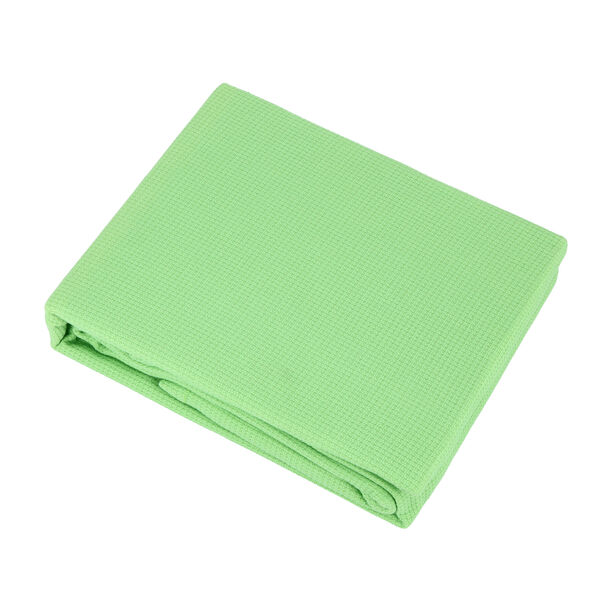 مفرش سرير صيفي من القطن الطبيعي لون أخضر image number 0