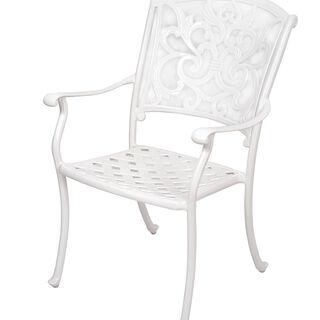 كرسي جانبي لون أبيض