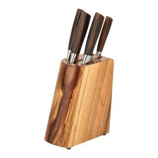 طقم سكاكين 5 قطع مع حامل اكريلك من البرتو